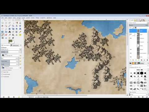 Mapping with GIMP