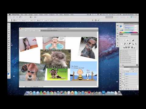 Photoshop Tutorial - How to make a collage