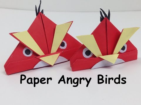 DIY Paper Crafts for Kids - How to Make a Paper Angry Bird | Angry Birds Crafts - DIY Easy Tutorials