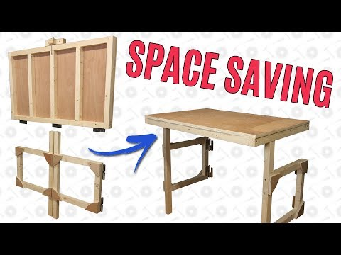 Making a Fold Down Table to Save Workshop Space