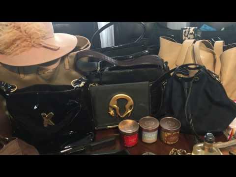 Thrift garage sale haul Designer Hand bags Makeup Coach Perlina