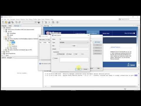 Java Tutorial - Creating a DataBase in NetBeans
