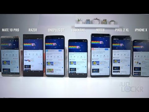 Battery Test: Razer Phone vs iPhone X vs OnePlus 5 vs Essential vs Note8 vs Pixel 2XL vs Mate 10 Pro