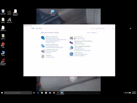 How to get to the Control Panel Windows 10