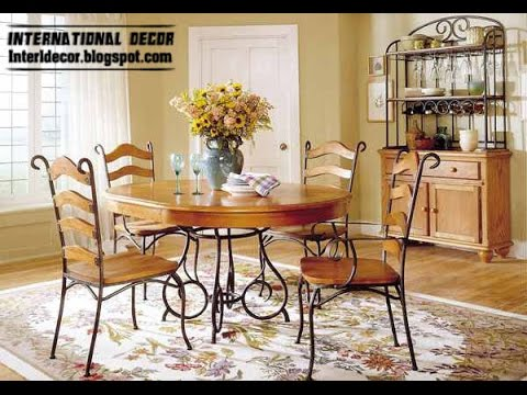 indoor wrought iron dining room sets
