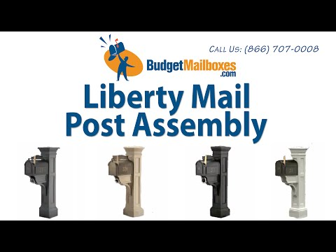 BudgetMailboxes.com | Mayne Post | Liberty Mail Post Assembly