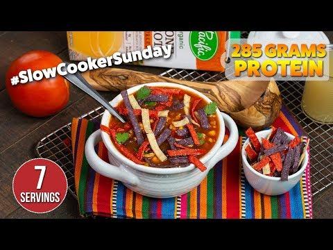 Delicious SLOW COOKER Turkey Tortilla Soup Recipe