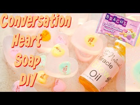 Making Conversation Candy Heart Soap DIY! Festive Valentines Day Heart Soaps