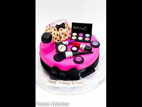 MAC make up cake part 3 (fondant cover)