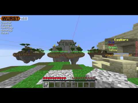 How to fly hack on Eggwars Cubecraft with wurst 1.9 download link
