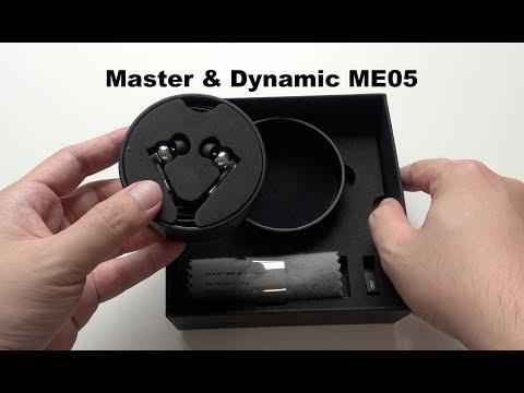 Master & Dynamic ME05 In-Ear Headphones Unboxing