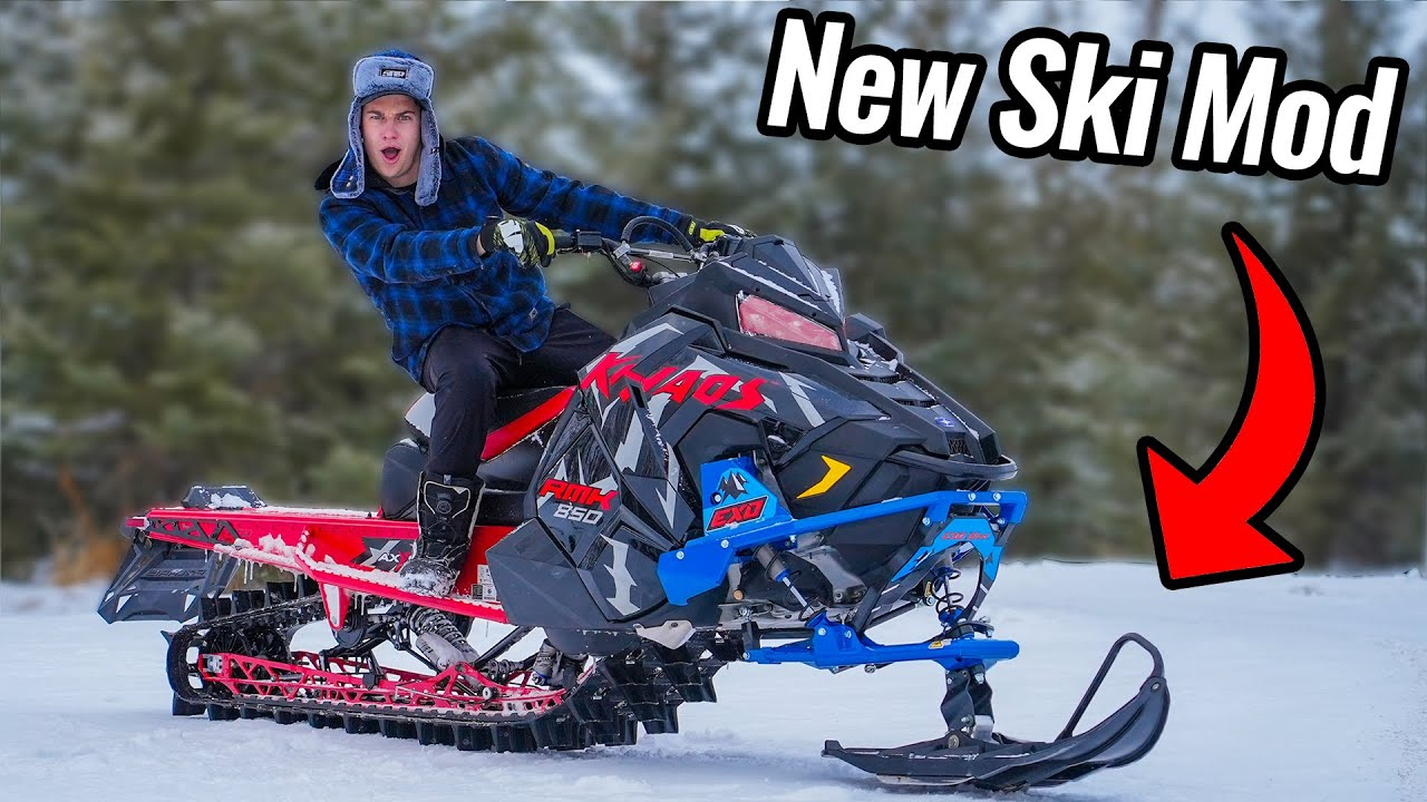 NEW Snowmobile with ONE SKI