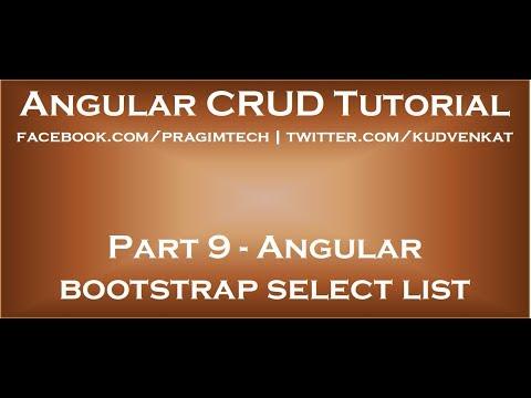 Angular bootstrap select list