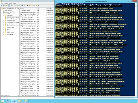 Modificacion masiva de usuarios de directorio activo en Windows Server 2012