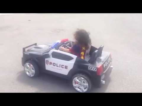 Police car kids toy 2016 how to drive a kids police car in action
