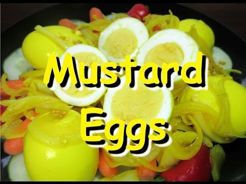 How to Make Amish Mustard Pickled Eggs ~ Pickled Egg Recipe