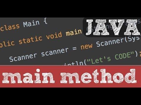 main method and program structure in Java - programming tutorial