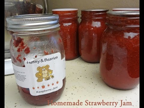 How to Make (low sugar) Strawberry Jam From Scratch Canning or Freezer