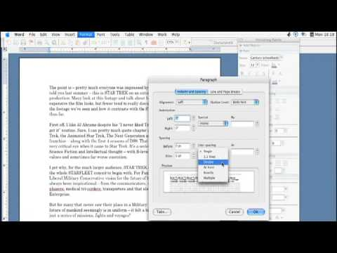 Using Microsoft Word : How to Adjust & Change Line Spacing in Microsoft Word