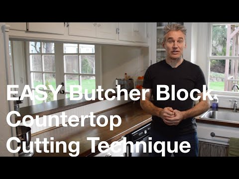 Easy Ikea Butcher Block Countertop Cutting Technique