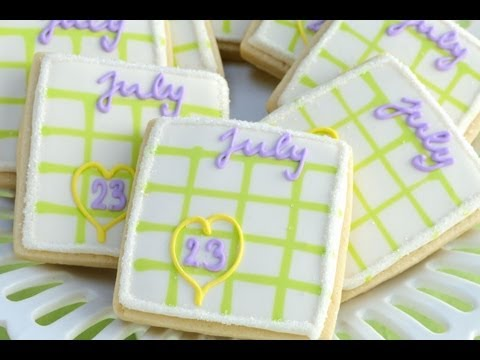 How To Make Calendar Cookies, Using a Simple Grid Template