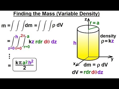 Calculus 3: Triple Integrals (13 of 25) Finding the Mass (Variable Density): Cylindrical