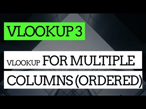 How to Do a VLOOKUP in Excel #3 : Using VLOOKUP to get multiple values (ordered)