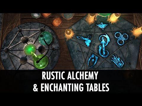 Skyrim Mod Spotlight: Rustic Alchemy & Enchanting Tables