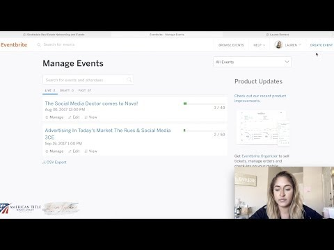 How to Create Events on Eventbrite & Facebook