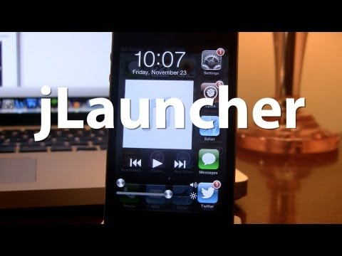 jLauncher - iPhone Multitasking Interface - Apps, Music, Brightness, & Volume Controls