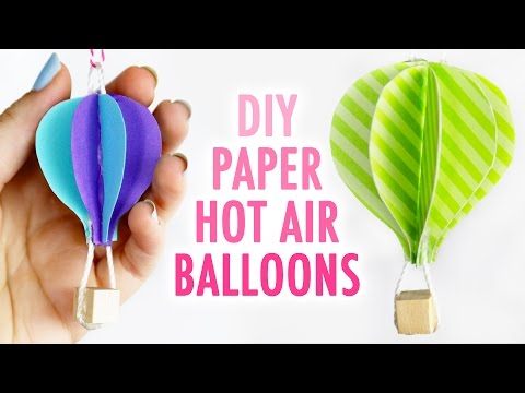 DIY Cute Paper Hot Air Balloons - HGTV Handmade