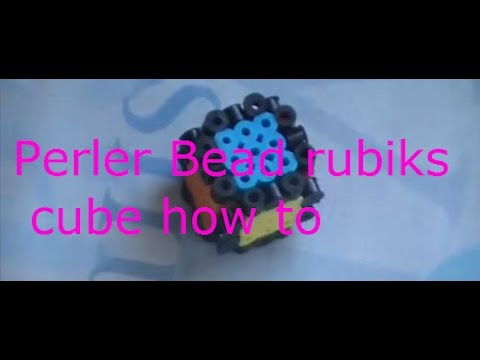 How to make a Perler Bead 3D rubiks cube