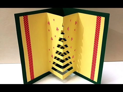 DIY Christmas Crafts :  How to Make Handmade 3D Pop-up  Christmas Card | Easy DIY X-mas Card