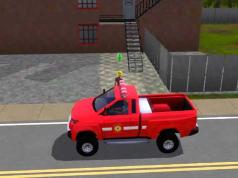 the sims 3 fire car