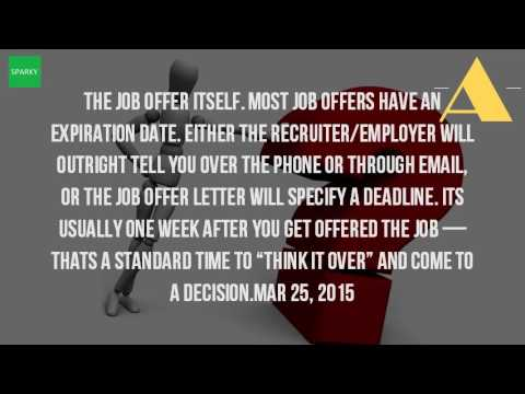 How Much Time Do You Have To Accept A Job Offer?