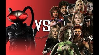 Black Manta VS The Girls - All Intro Dialogues   INJUSTICE 2