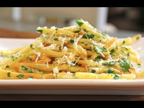 Easy Garlic Cheese Fries Recipe | SAM THE COOKING GUY