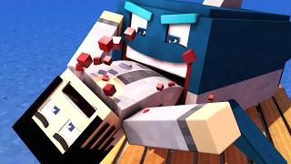 Minecraft Raft - EATEN BY A SHARK!! | Minecraft Roleplay