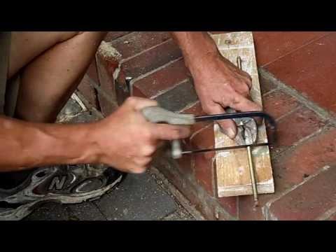 Cutting All thread  Steel with Mini Hack Saw