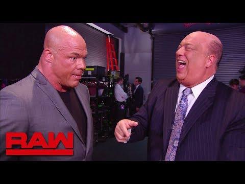 Kurt Angle asks Paul Heyman for a favor: Raw, April 2, 2018