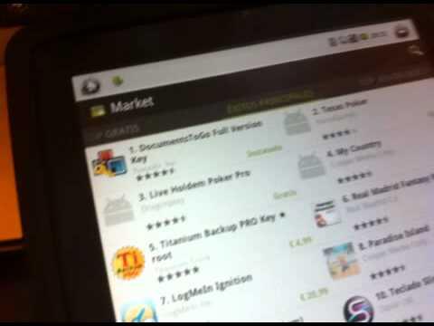 Review Nuevo Android Market 3.1.3 en Gpad Pro 9.7