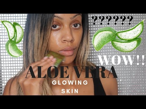 OMG??????? SHOCKING |ALOE VERA FOR ACNE| GLOWING SKIN|ANTI- AGING |DRY SKIN|♥ PLANT GEL