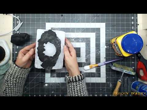 DIY Silicone mould for polymer clay frames