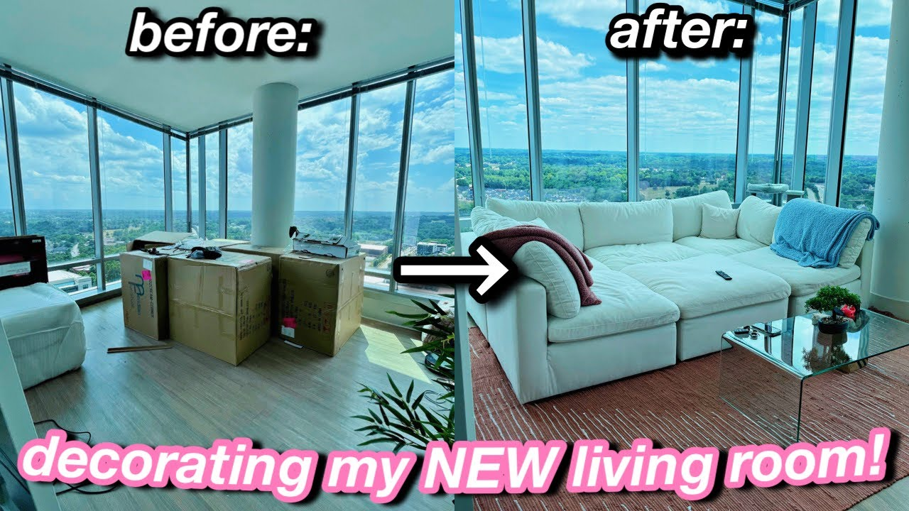 My 72 Hour Living Room Transformation! *decorating my new apartment* | Azlia Williams
