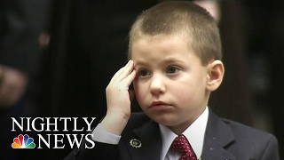 New York Cop's 4-Year-Old-Son Gives Heartbreaking Salute at Funeral   NBC Nightly News