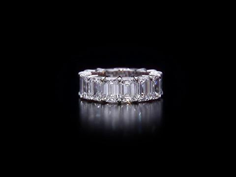 Emerald Eternity Diamond Ring Band 1