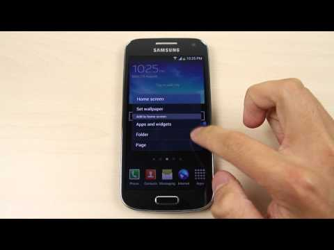 How to change the home screen and lock screen wallpaper on Samsung Galaxy S4 mini