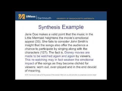 SAS-Summary, Analysis, Synthesis