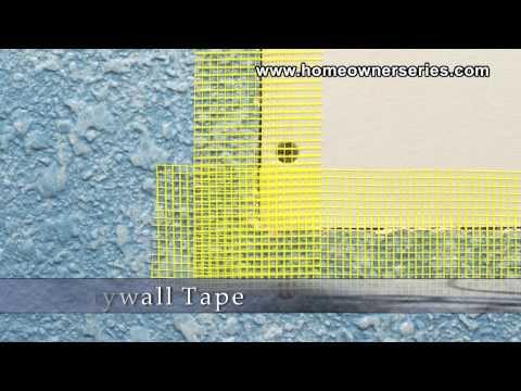 How to Fix Drywall - Drywall Tape - Materials - Drywall Repair