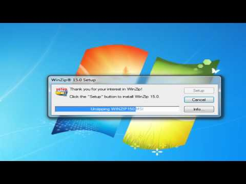How to install Winzip